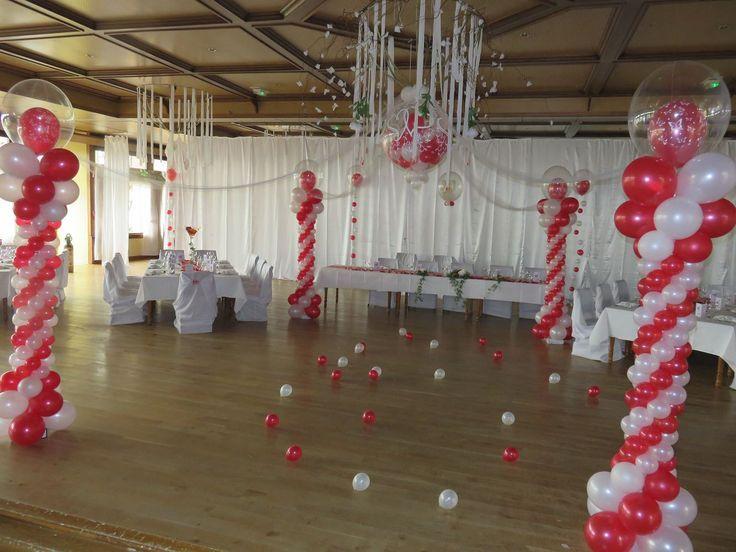 Les 25 meilleures id es de la cat gorie arrangements de - Decoration mariage avec ballon ...