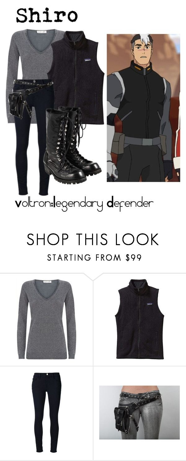 """""""Shiro from Voltron Legendary Defenders"""" by kayxiv1256 ❤ liked on Polyvore featuring Damsel in a Dress, Patagonia, Frame Denim, Holster and Comme des Garçons"""