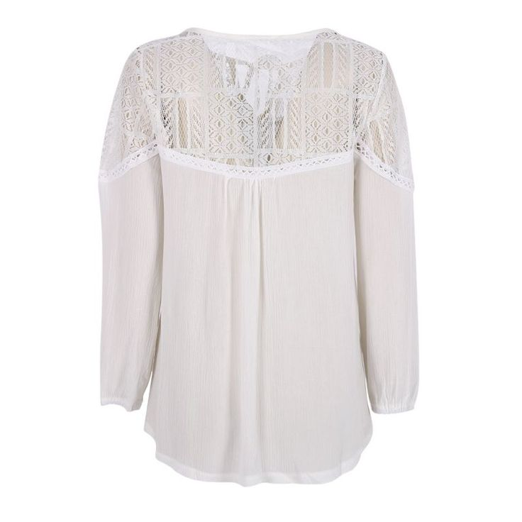 Sexy Fashion Womens Lace Tops Tee Long Sleeve Blouse  Casual Transparent  Blouses  Loose Clothing
