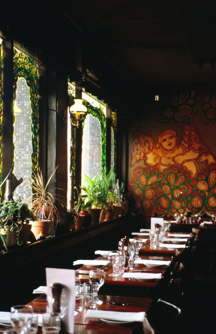 Beloved artist Mirka Mora's murals grace the walls in this dining room with a history (it's been delighting diners since the early '60s), part of Tolarno Hotel. Guy Grossi's Italian menu has some rustic classics, like veal satimbocca mixed with interesting surprises such as walnut and pear gnocchi with gorgonzola. There's also a four-course sharing menu ($60).
