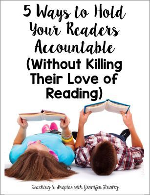 Ways to Hold Students Accountable in Reading- great reminders!