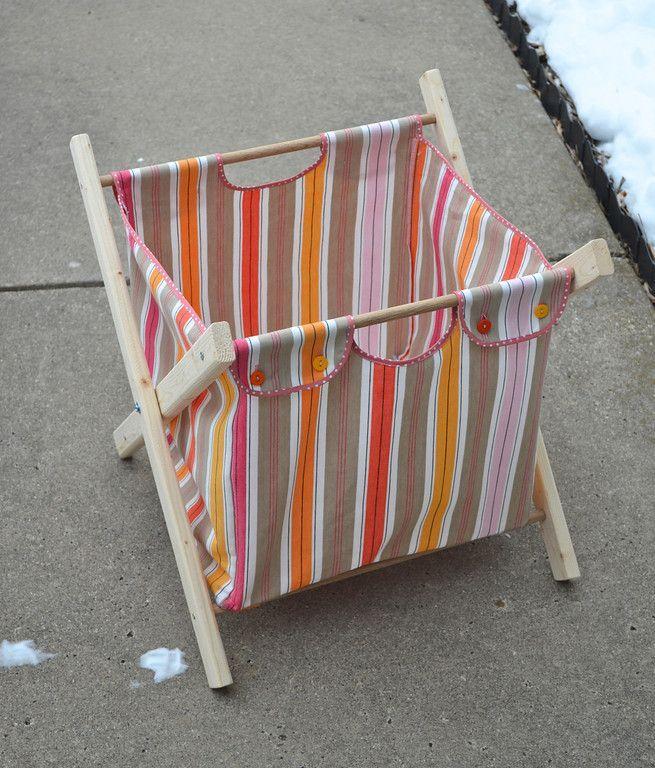 DIY folding hamper
