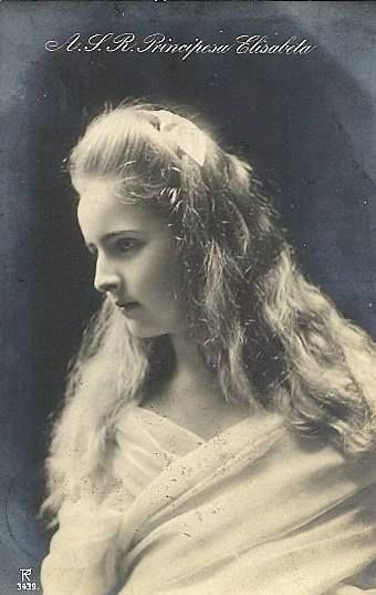 Princess Elizabetha of Romania (later Queen of Greece from 1921-1935), the second child and eldest daughter of Crown Prince Ferdinand and Crown Princess Marie of Romania.