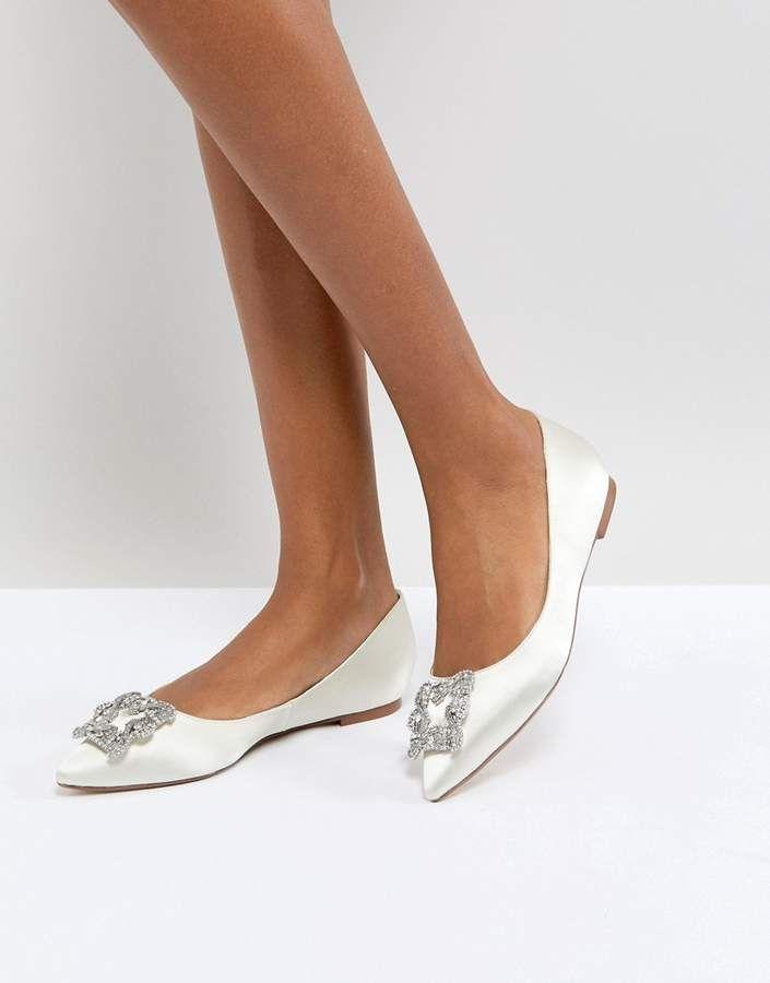 4e18cb7d2 Wedding shoes - Dune Bridal Dune London Bridal Briella Embellished Flat  Shoes