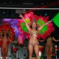 Brazillian actress Gyselle Soares performs at Pau Brasil