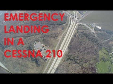 EMERGENCY LANDING IN A CESSNA 210 (KCGF to KBKW) - YouTube