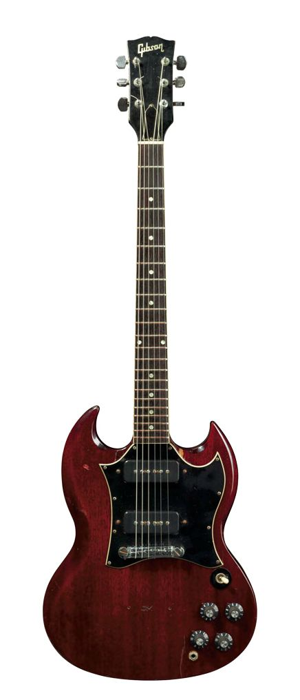"""Pete Townshend   '69 Gibson SG Special, """"Woodstock"""" guitar."""