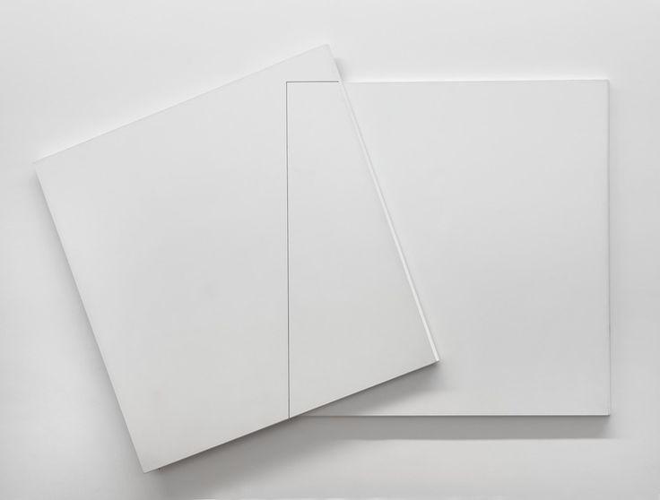 Superposition et transparence Carré derrière 0°-90°, carré devant 20°-110° (1980) - François Morellet Centre Pompidou