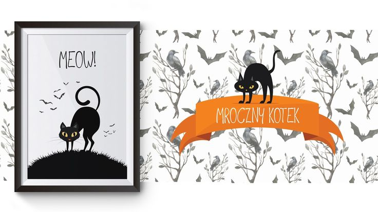 Halloweenowe plakaty za darmo, czyli straszna dekoracja