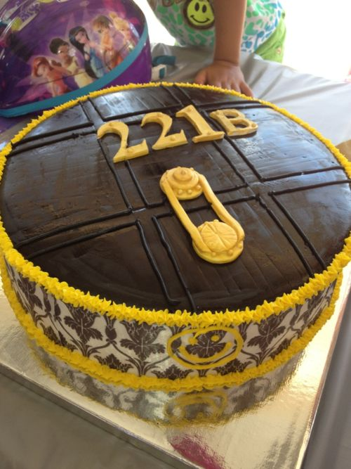 Sherlock cake - this...is amazing. I WILL make this for when series 3 airs!! You know actually, I'll get someone to make it for me, I'll be too busy fangirling