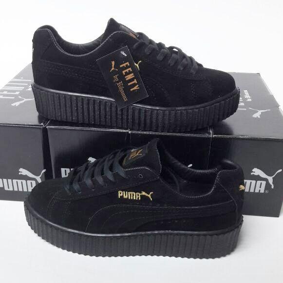 Puma Fenty Siyah Renk Siyah Taban Bayan Spor Ayakkabi Ayakkabi Bayan Fenty Puma Renk Siyah Zapatos Deportivos De Moda Moda Con Zapatillas Zapatos Puma