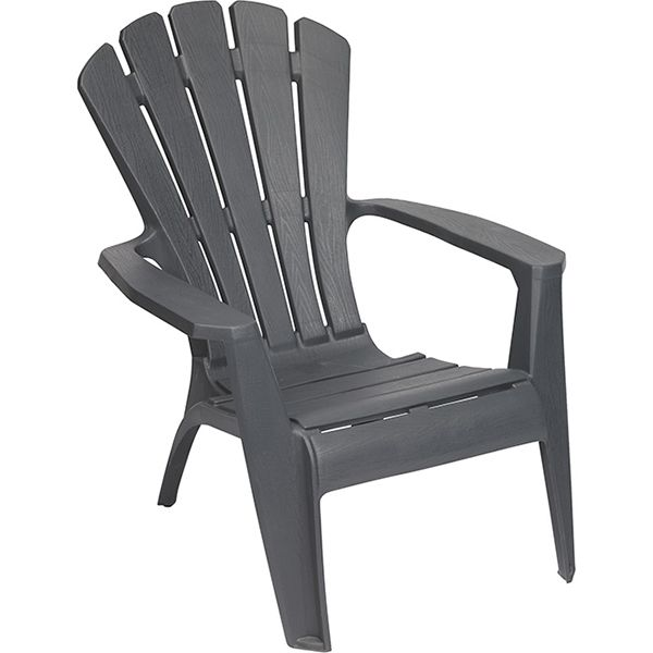 Our 10 favourite Adirondack chairs for summer - Grey resin Adirondack chair, $23, Rona.