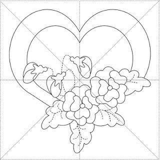Peck's Pieces: Romance Series Free Applique Pattern #1