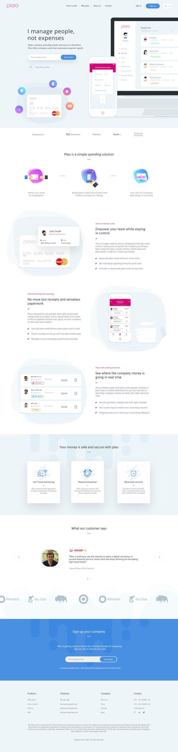 Pleo Website #webdesign #website #uidesign