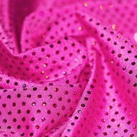 Lycra Stoff Glitter Pailletten Fuchsia