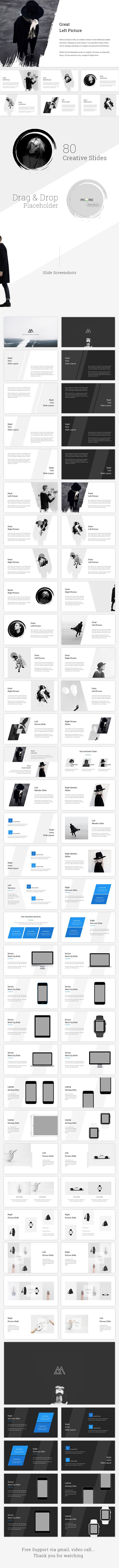 Minimal Powerpoint Template - 80 Unique Creative Slides