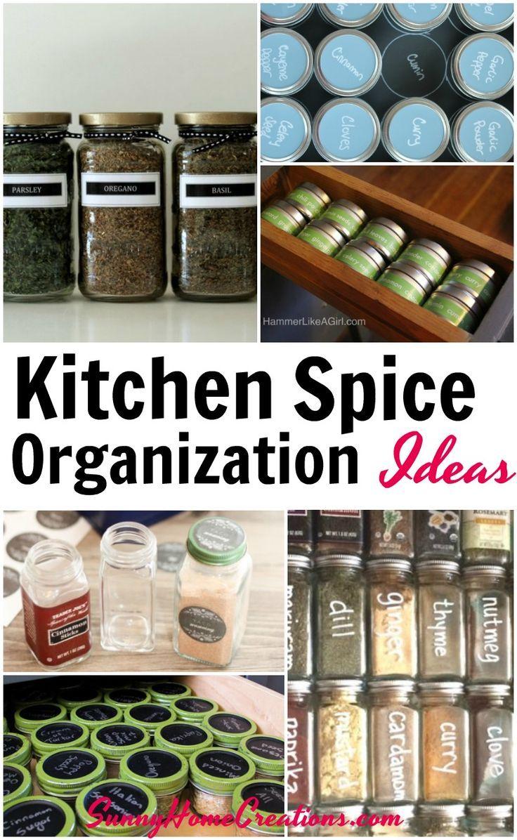 Spice Organization Ideas Spice Organization Kitchen Spices Spice Storage