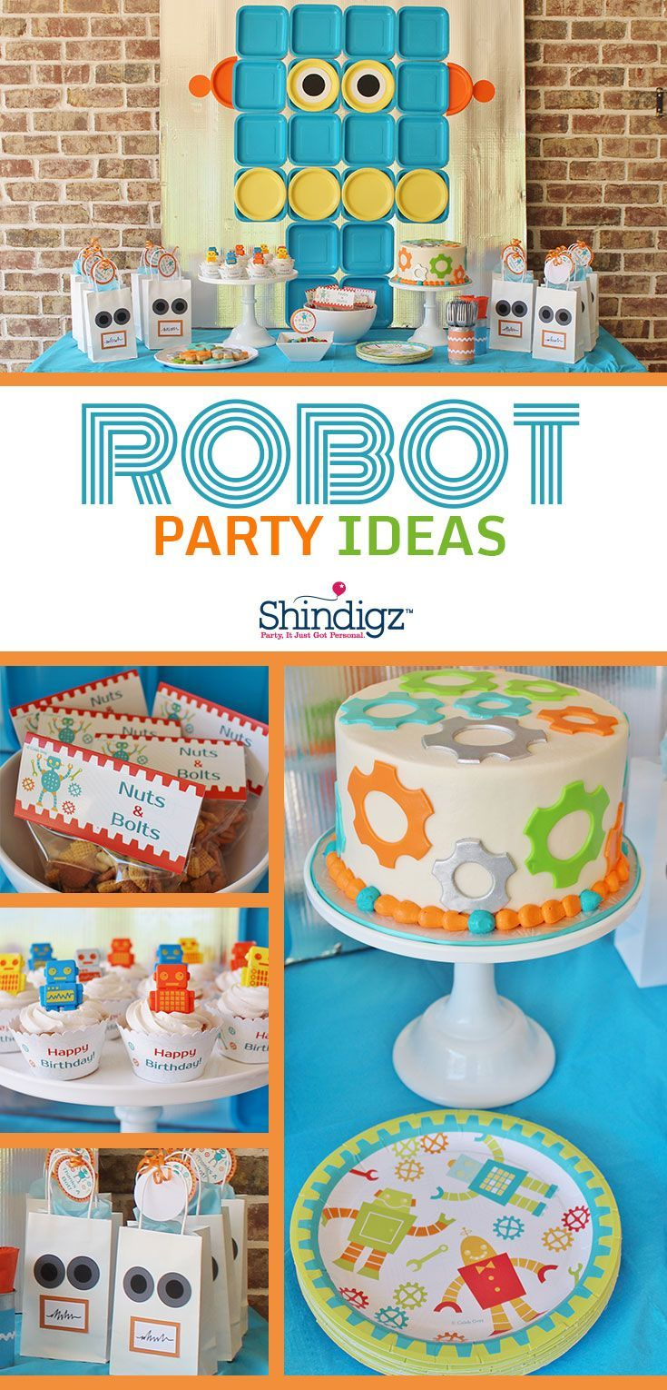 124 best Roboter party images on Pinterest | Birthday celebrations ...