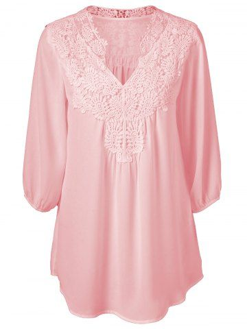 GET $50 NOW   Join RoseGal: Get YOUR $50 NOW!http://m.rosegal.com/plus-size-tops/plus-size-sweet-crochet-spliced-650025.html?seid=6941371rg650025