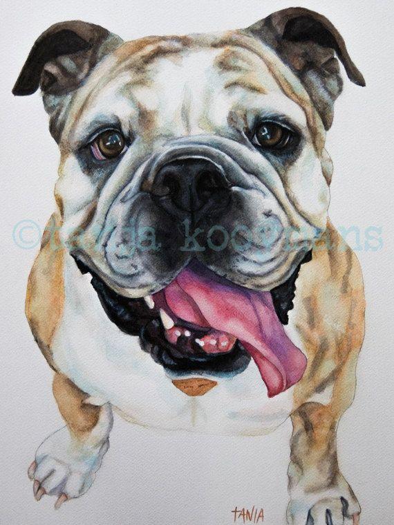 Aquarel portret van je hond hondenportret Ridgeback Teckel