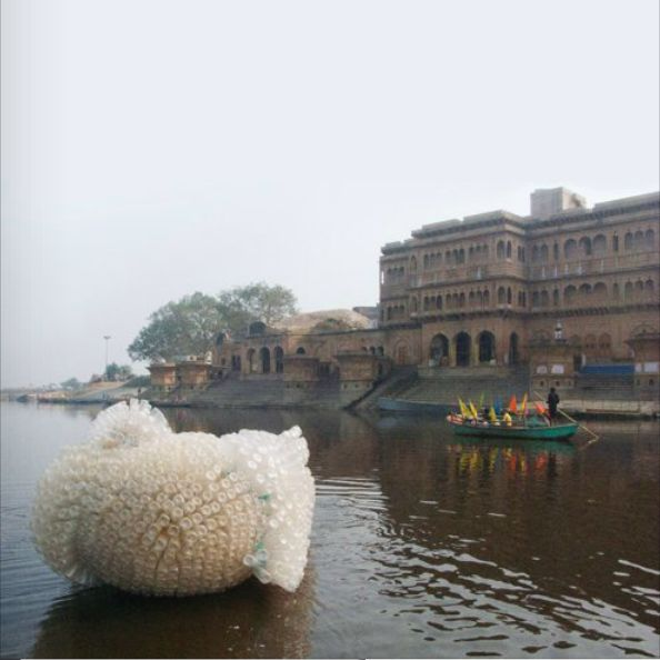 Anne Percoco - Indra's Cloud installation - india 2008