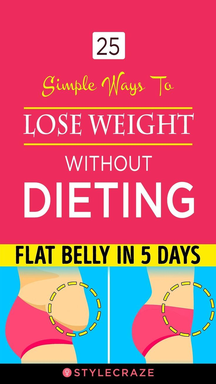 25 Simple Ways To Lose Weight Without Dieting