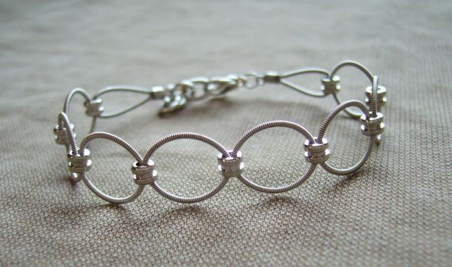 How cool are these bracelets! They are made from guitar strings!