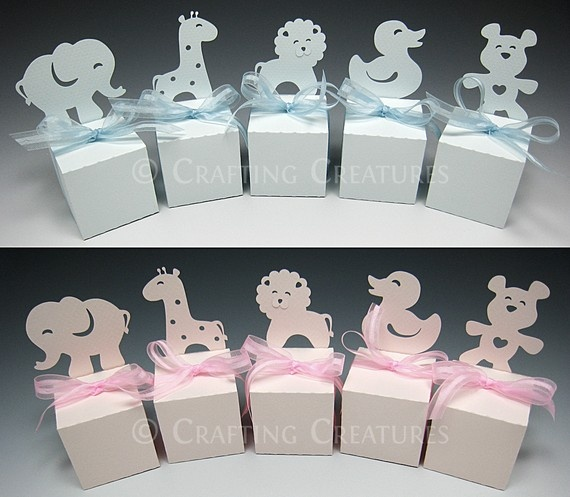 Add a diecut to a simple white favor box for that extra special touch! And you can do it in any colour!!
