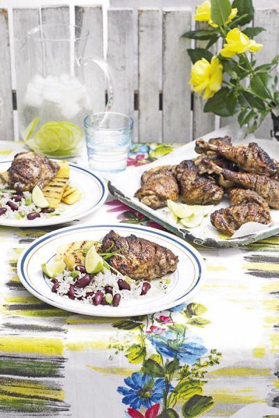 Recept Jamaicaanse hete kip met gegrilde ananas en bonenrijst | ELLE Eten