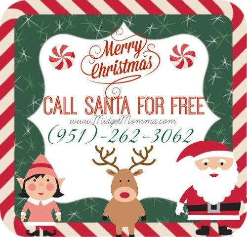 Santa's Phone number!!!! Call Santa for FREE!   Can't wait for Jesiah to call Santa.