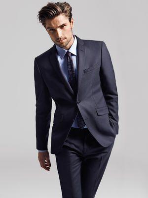 One tax kean blazer, Dark Blue, main