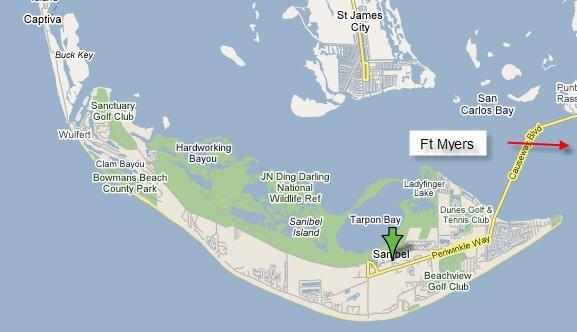 Sanibel Island Map: Map Of Sanibel Island Florida