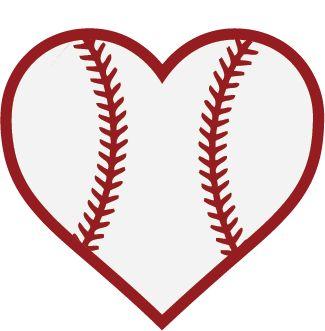 baseball heart cricut explore