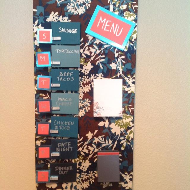 ikea malaysia spontan magnetic board menu wrapped fabric clothespins magnets hack