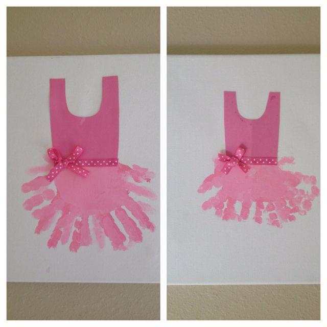 Made these a while ago...handprint tutu artwork :)