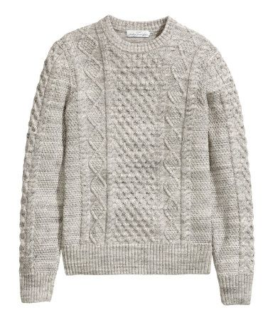 H&M US - Cable-knit sweater - ($39.95)