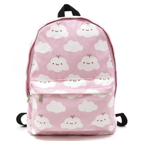 Cute cartoon clouds printing harajuku backpack