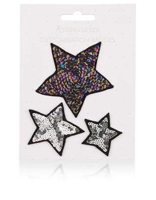 Sequin Star Iron On Badges | Metallic | Accessorize