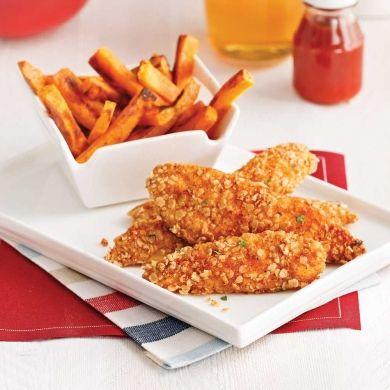 Fish'n chips santé citron et herbes - Soupers de semaine - Recettes 5-15 - Recettes express 5/15 - Pratico Pratique