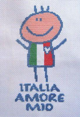 Bébé - baby - italien - point de croix - cross stitch - Blog : http://broderiemimie44.canalblog.com/