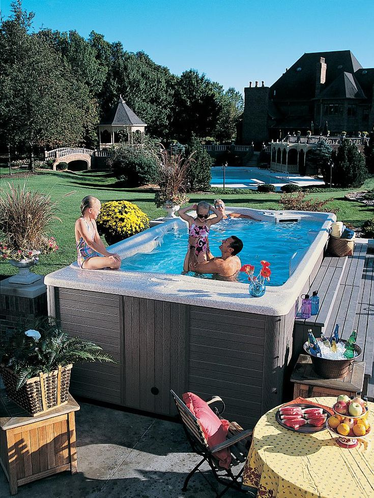 43 best swim spa images on pinterest backyard ideas - Endless pools swim spa owner s manual ...