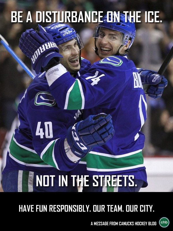 4th poster in #CHB's Celebrate Responsibly series - Maxim Lapierre and Alex Burrows - #Canucks #NHL
