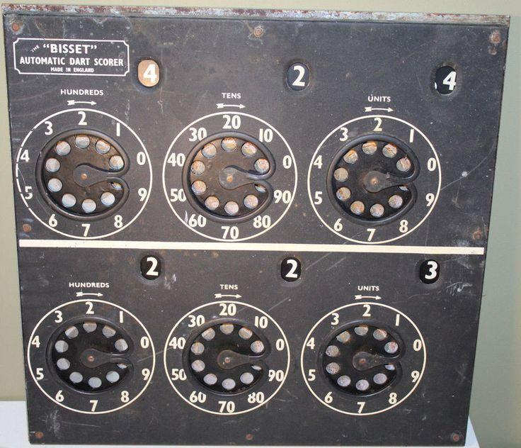 Bisset Automatic Dart Scorer Made in England 1920s-1930s Expedited Ship w Track #Bisset