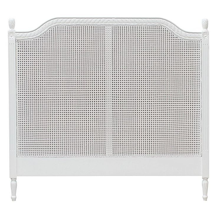 Make a statement with the bold light colouring of the Marseille Rattan Bed Head, White from Hudson Furniture.