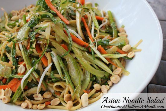 Asian Noodle Salad with Bok Choy | One Hundred Dollars a Month.