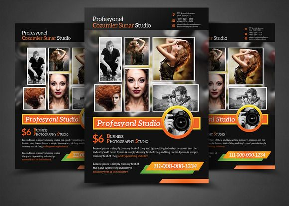 Photography Business Flyer Templates by AfzaalGraphics on @graphicsmag