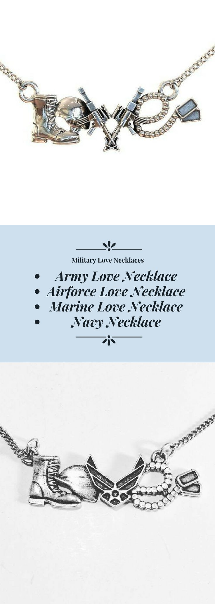 The perfect necklace whether you're in the military, a significant other, family member or someone you truly care about.