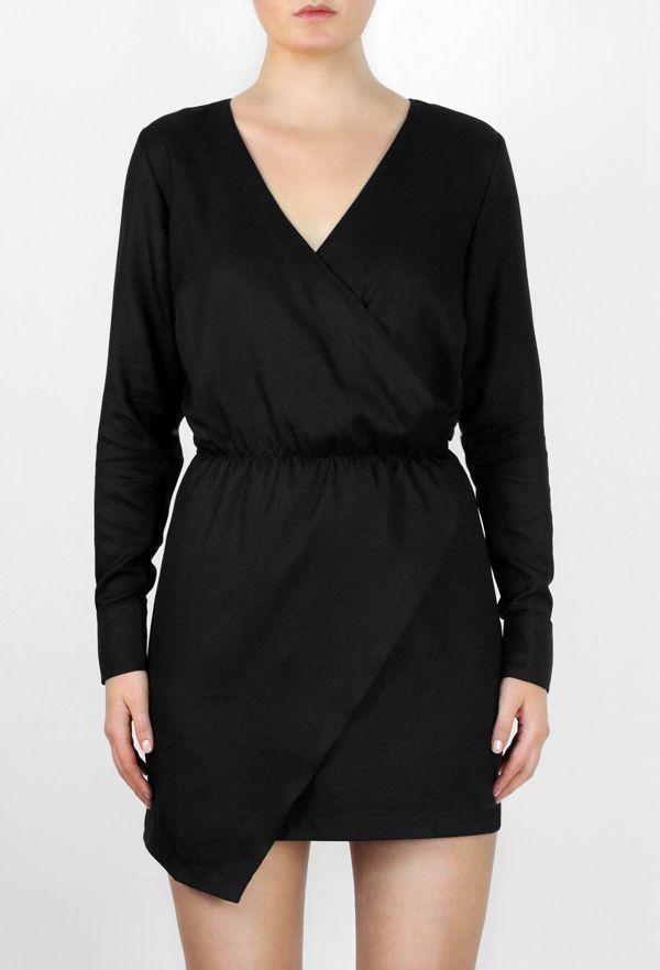 Black Wrap-Around Dress http://honeygold.eu/product/black-wrap-around-dress/