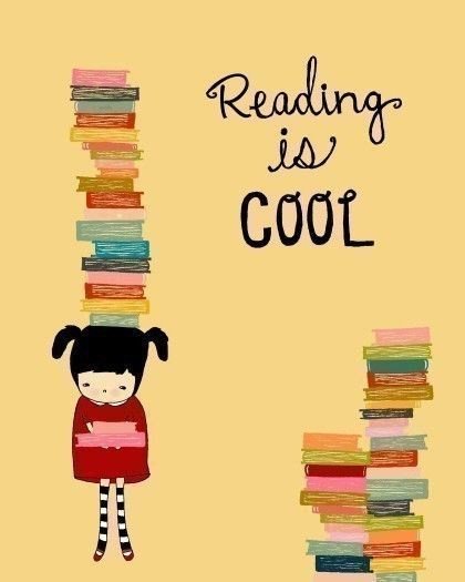 Reading is cool!: Quote, Illustration, Art Poster, Books Books, Reading Books, Bookworm