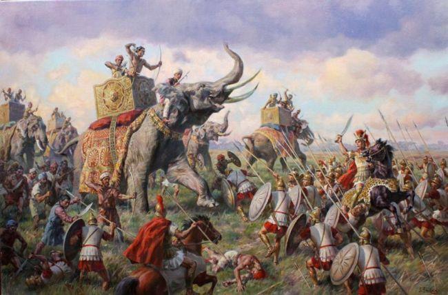 Ο Πώρος πολέμησε μέχρι τέλους. Όταν κατάλαβε ότι η περαιτέρω αντίσταση ήταν μάταιη, αποχώρησε αργά πάνω στον ελέφαντά του, αδύναμος από την απώλεια αίματος καθώς ένα ακόντιο είχε διαπεράσει τον δεξί του ώμο.